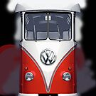 Red Volkswagen VW iphone 4 4s, iPhone 3Gs, iPod Touch 4g case by www. pointsalestore.com