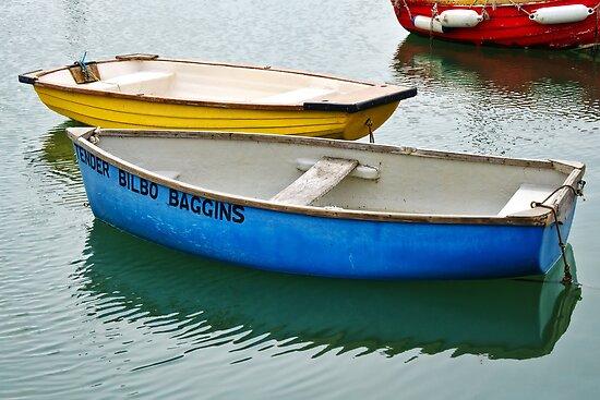 Tender Bilbo Baggins ~ Lyme Regis Harbour by Susie Peek