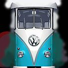 Blue Volkswagen VW iphone 5, iphone 4 4s, iPhone 3Gs, iPod Touch 4g case by pointsalestore Corps