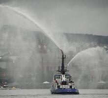 River Rain Derry Ireland by mikequigley