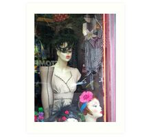 'Fifties Fashion in the Village Art Print