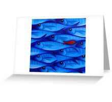 Blue School 4 Greeting Card