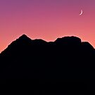 Crescent Moon at Red Rock Canyon Park by Eddie Yerkish