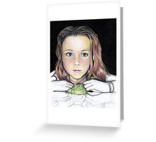 Kiki and the frog - colourised Greeting Card