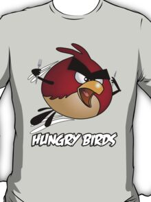 Hungry Birds - Angry Birds Parody: Red Bird T-Shirt