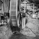Water Wheel, in Black & White by Philip Kearney