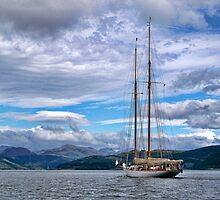 Schooner by Lynn Bolt