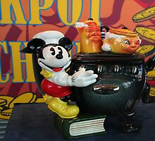 Mickey at the Cooker Teapot by Marilyn Harris