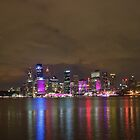 Sydney Skyline Vivid 2012 by Jeffrey So