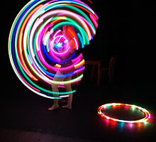 A Hula Hoop Performer by Margherita Coppolino