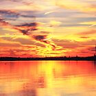 Provincetown Harbor Sunset by Roupen  Baker