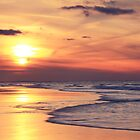 Beach at Sunset by Roupen  Baker