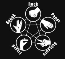Rock, Paper, Scissors, Lizard, Spock. Big Bang Theory by VolcanoWear