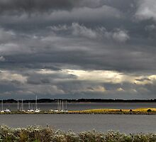 Dark clouds above Lake Grevelingen by Adri  Padmos