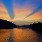 Sunset over the Delaware River by Debra Fedchin