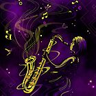 girl plays sax by sbink