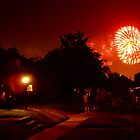 Fireworks from our street July 4th by deborah zaragoza