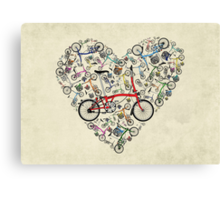 I Love Brompton Bikes Canvas Print