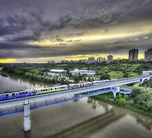 LRT at Sunset by Myron Watamaniuk