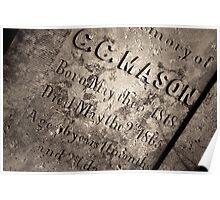 The Texas Chain Saw Massacre - C.C. Mason Grave Poster