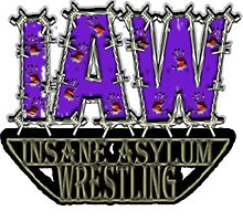 IAW (Insane Asylum Wrestling) Company Logo by MidBrainDesigns