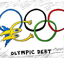 Binary Options News Comic of Olympic Debt by Binary-Options