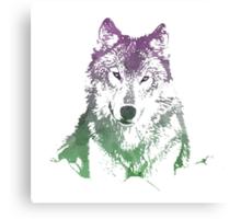 Watercolour Wolf Canvas Print