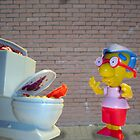 milhouse meets toilet monster by killahbee