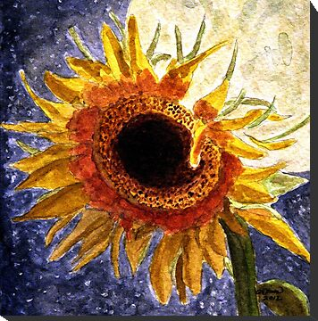 A Sunflower In The Moonlight by AngieDavies