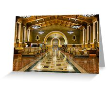 Los Angeles Union Station at Night Greeting Card