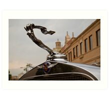 1932 Cadillac Hood Ornament Art Print