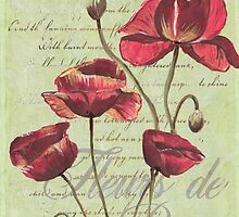 French Pink Poppies 1 by Debbie DeWitt