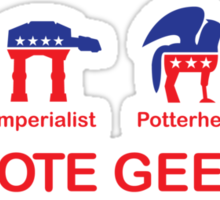 VOTE GEEK Sticker