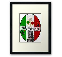 Italy Quidditch Framed Print