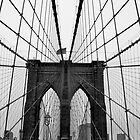 Brooklyn Bridge, New York City (Black and White) by crhodesdesign