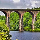 The Armsgrove Viaduct stood in the Wayoh Reservoir by christof1395