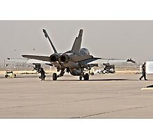F/A 18 Being Loaded with Ordanance Before Take-Off Photographic Print