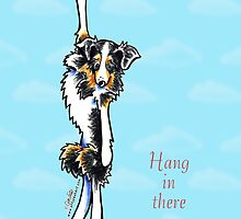 Australian Shepherd Hang in There Encouragement Card by offleashart