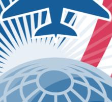 Airplane Jet Plane World Shield Sticker