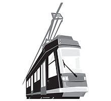 Modern Streetcar Tram Train by patrimonio