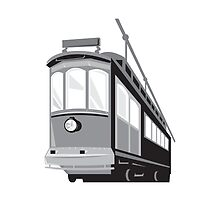 Vintage Streetcar Tram Train by patrimonio