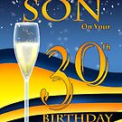 Son 30th Birthday Greeting Card by Moonlake