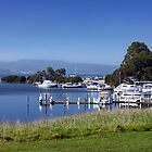 Mallacoota Inlet and boats by Roger Neal