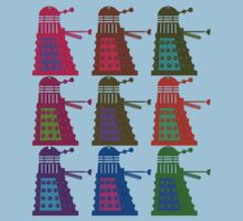Warhol Pop Art Daleks by Buddhuu