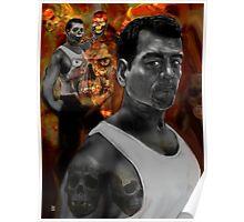 BATTLING MY DEMONS .a dark self portrait 2 Poster