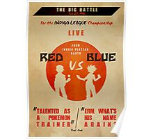 Red VS Blue Poster