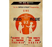 Red VS Blue Photographic Print