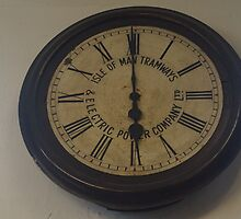 Manx Electric Railway Original Clock by youmeus