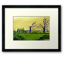 353 - LAVEROCK HALL FARM, NORTHUMBERLAND - DAVE EDWARDS - WATERCOLOUR & COLOURED PENCILS - 2012 Framed Print