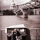 Piano on the Thames by Chris Cherry